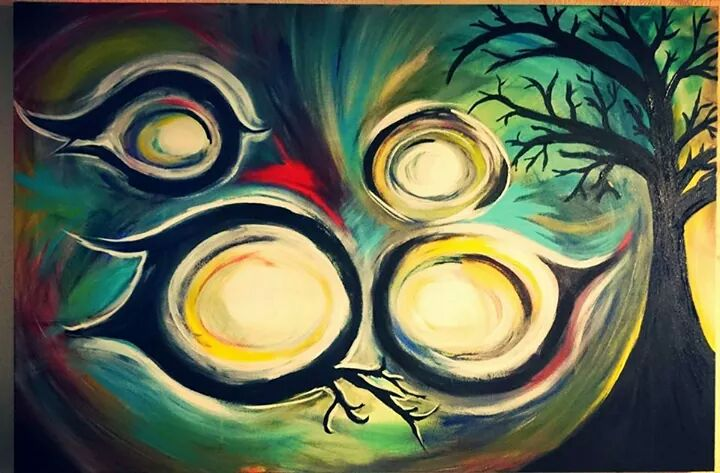 """Circles in the sky 2 24""""x 36"""""""