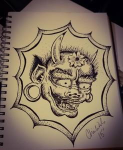 Maks pen drawing